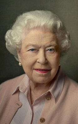Foto oficial de la Reina Elizabeth II, en su nonagésimo aniversario.