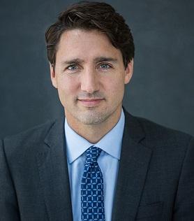 Foto oficial del educador Justin Trudeau, Primer Ministro de Canadá.