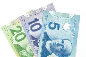 Los billetes canadienses de uso más frecuente son los de 5, 10 y 20 dólares.