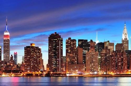 Vista general de la bahía de Nueva York.
