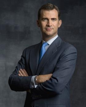 Foto oficial de Felipe IV, Rey de España.