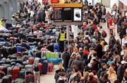 Inmigrantes en aeropuertos