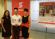 Fabiola Sicard, directora de Mercados Latinoamericanos de Scotiabank, Andrés Sierra y Fulvia Cantarutti, VP Toronto West District de Scotiabank.