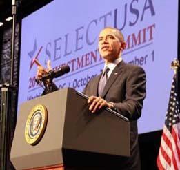 Obama encabeza la ofensiva de Estados Unidos para atraer más inversión extranjera.