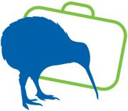 El kiwi, un ave no voladura que vive solo en NUeva Zelanda, es un símbolo del país e icono del nuevo contenido en MeQuieroIr.com