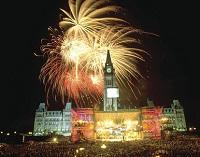 La ciudad capital, Ottawa, alberga la mayor cantidad de actividades del Día de Canadá.