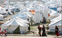 Campamento de refugiados en Irak.