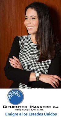 Abogada María Cifuentes Marrero, especialista en Inmigración a los Estados Unidos.