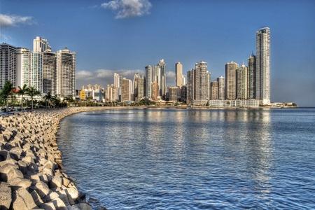 Vista de la bahía en Ciudad de Panamá.