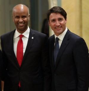 El canadiense Justin Trudeau nombró a su nuevo ministro de Inmigración, Ahmed Hussen.
