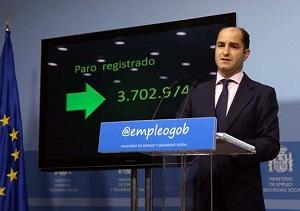La cifra de desempleados en España, al cierre de 2016 es de 3.702.974 personas